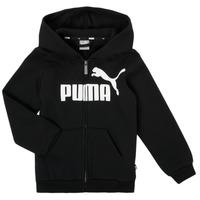 Kleidung Jungen Sweatshirts Puma ESSENTIAL BIG LOGO FZ HOODIE Schwarz
