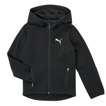 Kleidung Jungen Sweatshirts Puma EVOSTRIPE FZ HOODED JACKET Schwarz