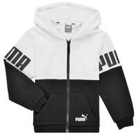 Kleidung Jungen Sweatshirts Puma PUMA POWER FZ HOODIE Schwarz / Weiss