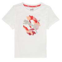 Kleidung Mädchen T-Shirts Puma ALPHA TEE Weiss