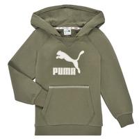 Kleidung Jungen Sweatshirts Puma T4C HOODIE Kaki