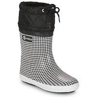 Schuhe Mädchen Schneestiefel Aigle GIBOULEE PRINT Schwarz / Weiss