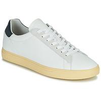 Schuhe Herren Sneaker Low Clae BRADLEY CALIFORNIA Weiss / Blau