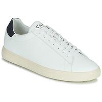 Schuhe Sneaker Low Clae BRADLEY VEGAN Weiss / Blau