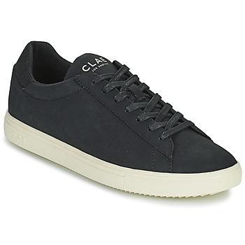 Schuhe Herren Sneaker Low Clae BRADLEY VEGAN Schwarz / Weiss