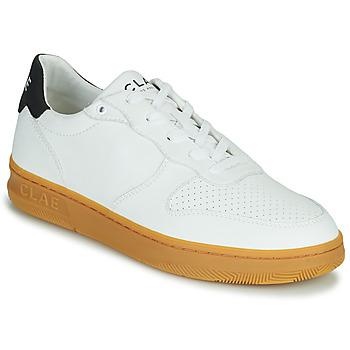 Schuhe Herren Sneaker Low Clae MALONE VEGAN Weiss / Blau
