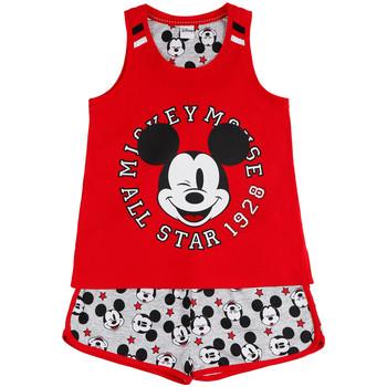Kleidung Mädchen Pyjamas/ Nachthemden Admas Pyjama Mädchen Shorts Tank Top Mickey All Stars Disney rot Sand