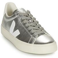 Schuhe Damen Sneaker Low Veja CAMPO Silbern / Weiss