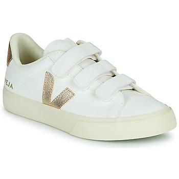 Schuhe Damen Sneaker Low Veja RECIFE LOGO Weiss / Gold