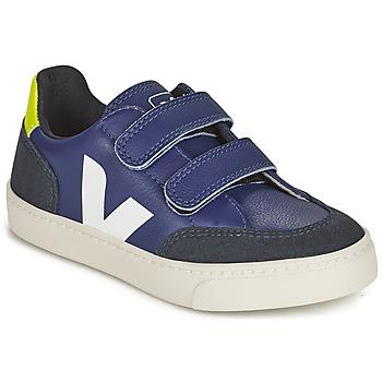 Schuhe Kinder Sneaker Low Veja SMALL V-12 VELCRO Blau / Weiss