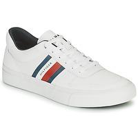 Schuhe Herren Sneaker Low Tommy Hilfiger CORE CORPORATE STRIPES VULC Weiss