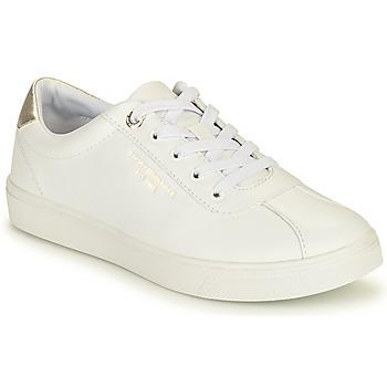 Schuhe Damen Sneaker Low Tommy Hilfiger COURT LEATHER SNEAKER Weiss