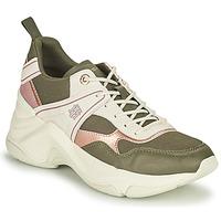 Schuhe Damen Sneaker Low Tommy Hilfiger FASHION WEDGE SNEAKER Grün / Rose