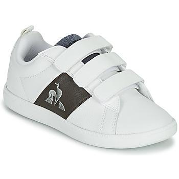 Schuhe Kinder Sneaker Low Le Coq Sportif COURTCLASSIC PS Weiss / Braun