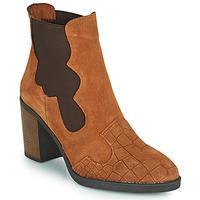 Schuhe Damen Low Boots Elue par nous KOISSON Camel