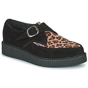 Schuhe Derby-Schuhe TUK POINTED CREEPER MONK BUCKLE Schwarz / Leopard