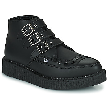 Schuhe Boots TUK POINTED CREEPER 3 BUCKLE BOOT Schwarz