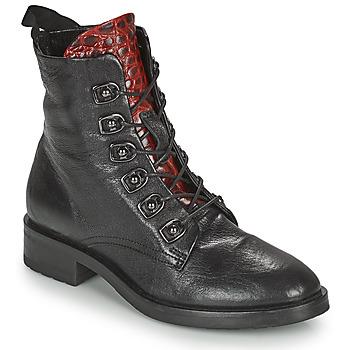 Schuhe Damen Boots Metamorf'Ose KARDIESSE Schwarz