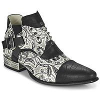 Schuhe Herren Derby-Schuhe New Rock M-NW135-C12 Weiss / Schwarz