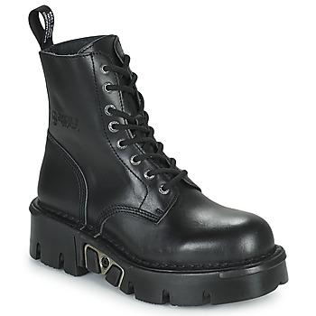 Schuhe Boots New Rock M-MILI084N-S3 Schwarz