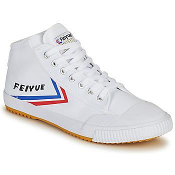 Schuhe Herren Sneaker High Feiyue FE LO 1920 MID Weiss / Blau / Rot
