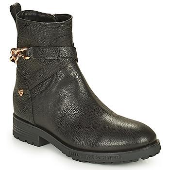 Schuhe Damen Boots Love Moschino JA21084G1D Schwarz
