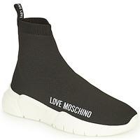 Schuhe Damen Sneaker High Love Moschino JA15343G1D Schwarz
