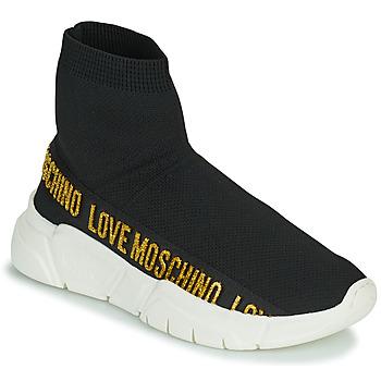 Schuhe Damen Sneaker High Love Moschino JA15633G0D Schwarz