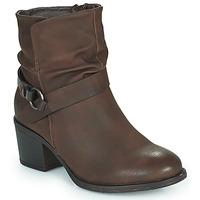 Schuhe Damen Low Boots Emmshu FLEUR Braun