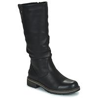 Schuhe Damen Klassische Stiefel Emmshu WIND Schwarz