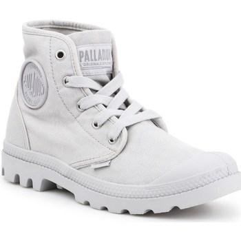 Schuhe Damen Sneaker High Palladium Manufacture Pampa HI Grau