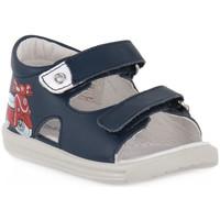 Schuhe Jungen Sandalen / Sandaletten Naturino FALCOTTO 0C02 BLAVET NAVY Blu