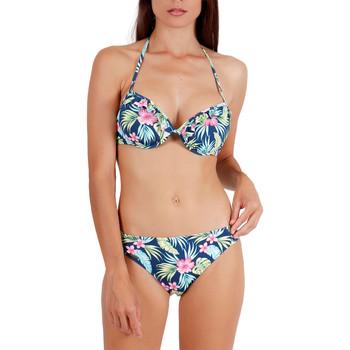 Kleidung Damen Bikini Admas 2-teiliges Push-up-Bikini-Set Hawaii Blau Marine