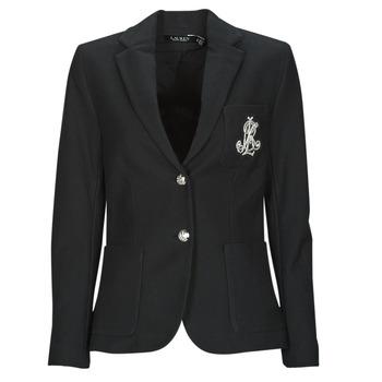 Kleidung Damen Jacken / Blazers Lauren Ralph Lauren ANFISA-LINED-JACKET Schwarz