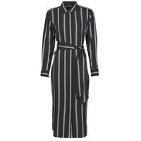 Kleidung Damen Maxikleider Lauren Ralph Lauren RYNETTA-LONG SLEEVE-CASUAL DRESS Schwarz