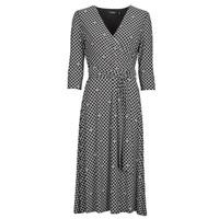 Kleidung Damen Maxikleider Lauren Ralph Lauren CARLYNA-3/4 SLEEVE-DAY DRESS Schwarz