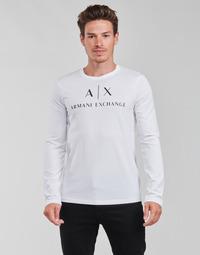 Kleidung Herren Langarmshirts Armani Exchange 8NZTCH Weiss