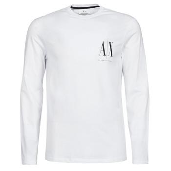 Kleidung Herren Langarmshirts Armani Exchange 8NZTPL Weiss
