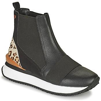 Schuhe Damen Sneaker High Gioseppo LUNNER Schwarz / Leopard