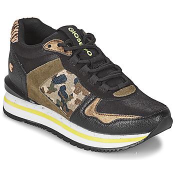 Schuhe Damen Sneaker Low Gioseppo GRAZ Schwarz / Kaki