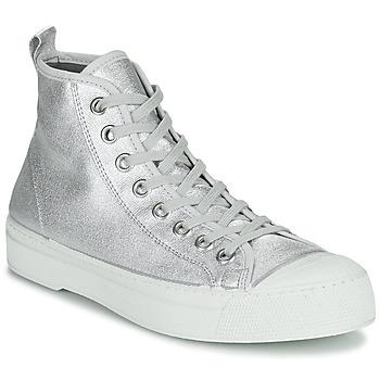 Schuhe Damen Sneaker Low Bensimon STELLA B79 SHINY CANVAS Silbern
