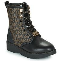 Schuhe Mädchen Boots MICHAEL Michael Kors HASKELL Schwarz / Gold