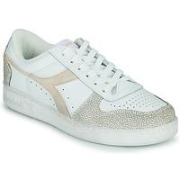 Schuhe Damen Sneaker Low Diadora MAGIC BASKET LOW ICONA WN Weiss / Rose