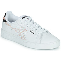 Schuhe Damen Sneaker Low Diadora GAME L LOW ZIG ZAG WN Weiss / Rose