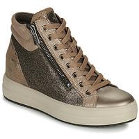 Schuhe Damen Sneaker High IgI&CO DONNA SHIRLEY Beige / Gold