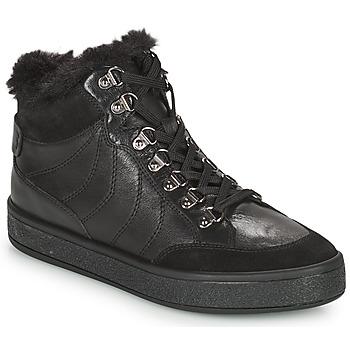 Schuhe Damen Boots Geox LEELU Schwarz