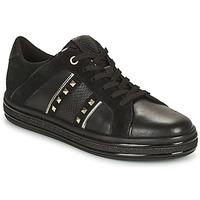 Schuhe Damen Sneaker Low Geox LEELU Schwarz