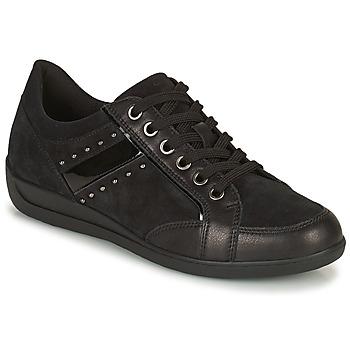 Schuhe Damen Sneaker Low Geox MYRIA Schwarz