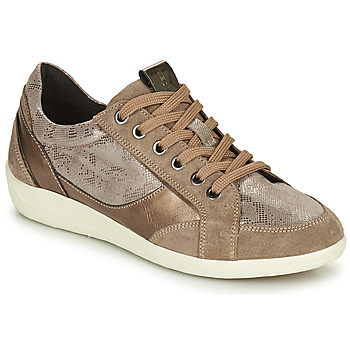 Schuhe Damen Sneaker Low Geox MYRIA Gold