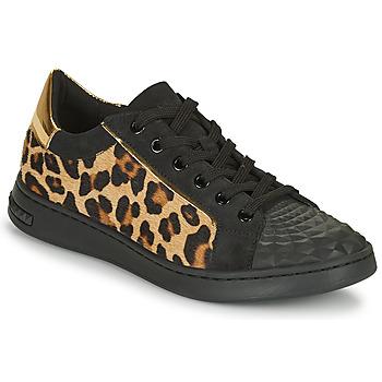 Schuhe Damen Sneaker Low Geox JAYSEN Schwarz / Leopard